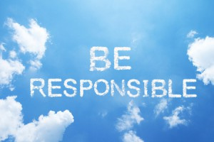 65483671 - be responsible cloud word on sky.